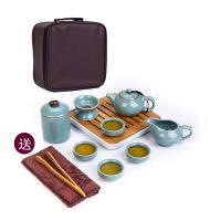 【品牌热卖】自动茶具套装旅行功夫整套旅行茶具便携茶具功夫茶具套装*品 旅行茶具11头+密胺茶盘