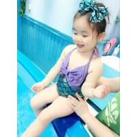 女童泳衣儿童连体泳衣宝宝卡通游泳衣人鱼公主游泳装 支持礼品卡支付