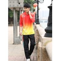 羽毛球乒乓球服套装男女春秋运动服休闲长袖套装训练服比赛服