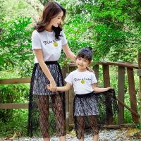 亲子装母女裙夏天公主夏季女宝宝裙子夏韩版女孩女宝夏装套装蕾丝