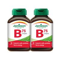 【网易考拉】【提高精力】加拿大Jamieson 8+2活力B 维生素B族复合片(B75)90粒*2瓶