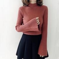 高领毛衣女套头加厚修身上衣韩版秋冬装线衫紧身打底衫长袖针织衫
