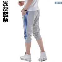 夏季七分裤男运动短裤青少年跑步篮球马裤小脚运动短裤薄款7分裤 4