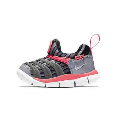 耐克(Nike)儿童鞋毛毛虫童鞋舒适运动休闲鞋834366-002 灰色注意:清仓产品,鞋盒存在破损