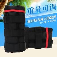 负重绑腿沙袋运动跑步训练健身装备隐形可调男女绑手绑脚沙包学生 黑色可调12KG(两只重量 铁砂)