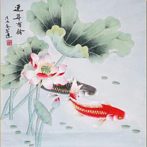中国书画家协会会员、著名女画家刘翠莲老师――连年有余