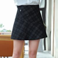 2018年春季半身裙时尚潮流修身格子条纹气质优雅韩版
