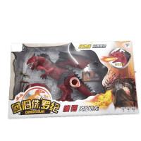 儿童恐龙玩具仿真动物模型喷雾遥控火焰飞龙男孩益智玩具 红色