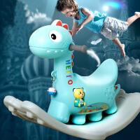 儿童木马摇马玩具宝宝摇摇马塑料婴儿1-2周岁带音乐马车