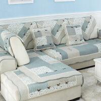 沙发垫布艺棉防滑沙发坐垫夏季田园棉四季通用简约沙发巾套罩