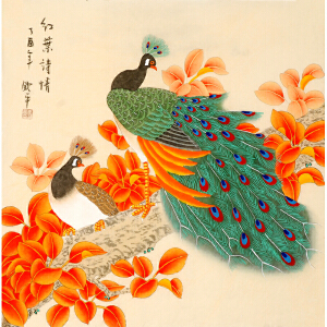 中国美术家协会会员 李钦平《红�~诗情》