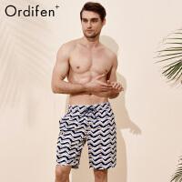 欧迪芬男式沙滩裤商场同款O+条纹印花休闲情侣沙滩裤PS8818