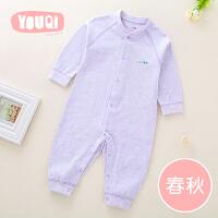 婴儿连体衣初生儿男宝宝哈衣内衣长袖爬服睡衣