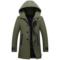 新款男士羽绒服中长款修身青年加厚学生韩版潮流休闲冬季外套