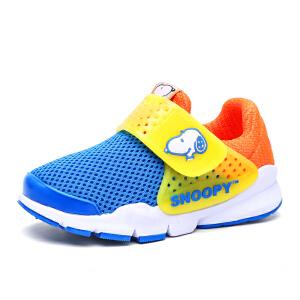 史努比童鞋春季新款儿童运动鞋男童透气网面跑步鞋女童休闲鞋
