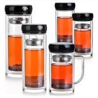 富光双层玻璃杯 耐热透明 茶杯 带茶隔 G1209 220ml/260ml/280ml/320ml