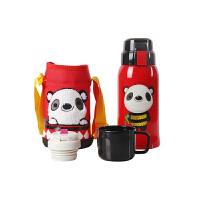 【当当自营】杯具熊(BEDDYBEAR) 复古版儿童保温杯带吸管 儿童水杯不锈钢 儿童保温壶600ml 红色熊猫