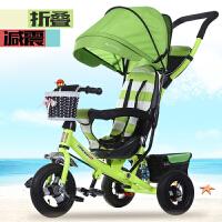 儿童车宝宝脚踏车1-3-5岁小孩自行车手推车儿童三轮车折叠