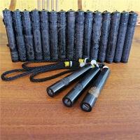 火折子吹气打火机创意复古黑檀木点烟器USB充电打火机 智能防风吹一吹气感应火折子