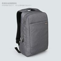 适用于苹果联想戴尔双肩电脑包15寸14.5寸男女笔记本包背包 灰色 14寸