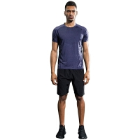 男士运动套装夏季短袖T恤速干运动衣跑步健身房服装宽松短裤透气【潮流】【超火】 X5-2+B10D