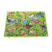 儿童大号磁性迷宫玩具走珠木制益智力磁力运笔迷宫小宝宝2-3-4岁