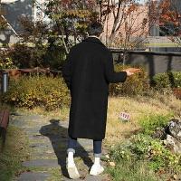 秋冬双排扣韩国羊绒大衣男中长款青年韩版毛呢大衣男呢子外套风衣