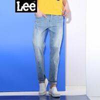 Lee男装 商场同款2018春夏新品水洗猫须九分牛仔裤男LMZ755Z024KN
