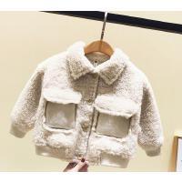 宝宝冬装外套夹克小童棉衣时髦羊羔绒上衣潮