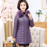 妈妈装冬装外套pu皮棉衣中老年女装加厚40-50岁2017新款棉袄