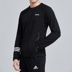 adidas阿迪达斯男服卫衣2019新款圆领套头休闲运动服DT8995