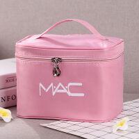 大容量化妆包化妆箱收纳盒手提简约大号化妆品箱可爱小号便携防水 软包MAC 粉色