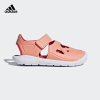 阿迪达斯(adidas)2018年新款童鞋女童户外包头魔术粘儿童凉鞋DB2533 珊瑚粉