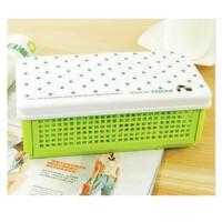 陆捌壹肆   天卓 日韩国创意文具  简洁可爱点点 文具盒 铅笔盒 杂物收纳盒 2个装