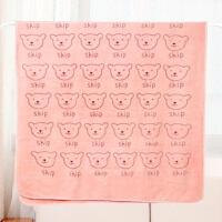 洗澡浴巾男女大号吸水裹胸 宝宝儿童可爱卡通加大毛巾J 70x140cm