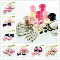 丝带套装蝴蝶结手工制作发夹发卡儿童串珠发饰DIY材料包饰品配件