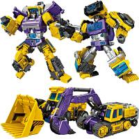 变形玩具金刚合体儿童变形机器人 男孩变型汽车人工程车