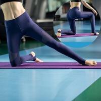 踩脚瑜伽长裤女高弹力紧身瑜伽服秋冬款网纱速干运动跑裤