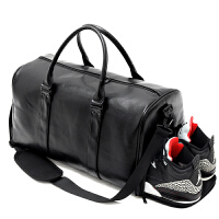手提旅行包男手提包短途出差行李袋大容量行李包健身包女运动 黑色 大