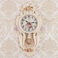 欧美家居客厅钟表静音挂钟创意长石英表墙壁装饰挂件