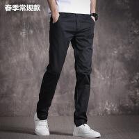 休闲裤男韩版潮流新款黑色修身春夏季青年直筒宽松男士薄款长裤子