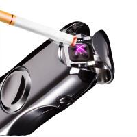 指尖陀螺充电打火机双电弧usb电子点烟器超薄防风创意个性男定制
