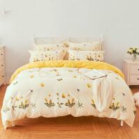 纯棉四件套棉1.5米床单被套学生宿舍三件套1.8m床套件