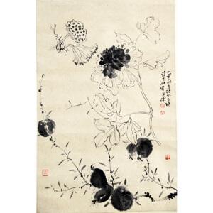 L贾广健 秋实图 74*49