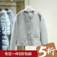 韩版圆领短款毛呢外套女冬装新款 纯色百搭落肩长袖休