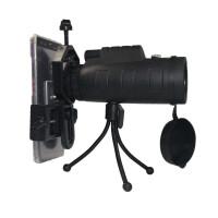 多功能手机摄影望远镜 摄影镜头OUJIN手持式12x50带指南针便携式单筒望远镜12倍 标配+台式三脚架