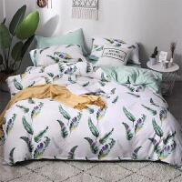 床上四件套棉棉公主风水洗棉简约1.8m床单被套三件套