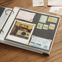 回忆录DIY粘贴式相册本 插页式拍立得情侣手工保护覆膜同学录影集