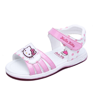 HELLO KITTY童鞋女童公主凉鞋夏季新款女孩露趾凉鞋沙滩鞋
