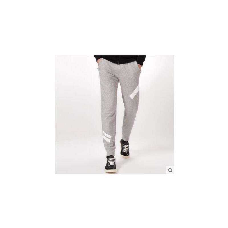 长裤个性潮流撞色收口裤男士针织修身束脚哈伦裤运动裤男休闲卫裤 品质保证,支持货到付款 ,售后无忧